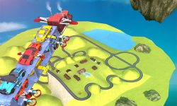 Car Transporter Flying Game 3D screenshot 4/4
