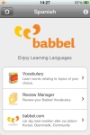 Spanish Mobile  Vocabulary Trainer by babbel.com screenshot 1/1