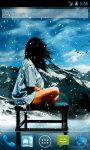 Girl Under Snow Live Wallpaper screenshot 1/4