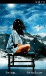 Girl Under Snow Live Wallpaper screenshot 2/4