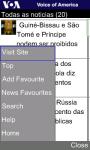 VOA Portuguese for Java Phones screenshot 3/6
