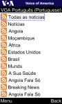 VOA Portuguese for Java Phones screenshot 4/6