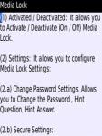 Media Lock Blackberry screenshot 4/4