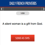 Daily French Proverbs S40 screenshot 1/1