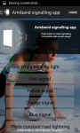 Armband signalling app screenshot 2/6