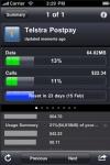 Telstra compatible Mobile Phone and Bigpond usage screenshot 1/1