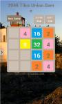 2048 Tiles Union Game screenshot 2/3