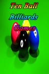 Ten Ball Billiards Games screenshot 1/3