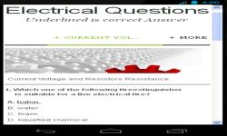 Electrical Question screenshot 1/3