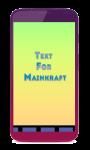 Text For Minecraft screenshot 1/1
