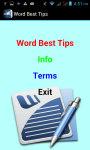 Word Best Tips screenshot 2/3