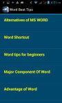 Word Best Tips screenshot 3/3
