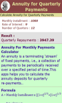 Annuity for Quarterly Payments Calculator screenshot 3/3