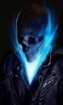 Blue Fire Skull Live Wallpaper screenshot 1/3