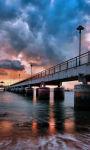 Amazing pier over on the beach Wallpaper HD screenshot 1/3