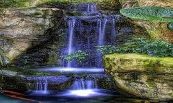 Blue Magic Waterfall Live Wallpaper screenshot 2/3