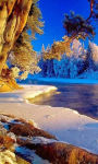 Snow-covered beach walkway Wallpaper HD screenshot 1/3