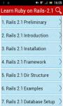 Learn Ruby on Rails 2 screenshot 1/2