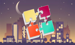 Puzzles for adults city screenshot 1/6