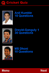 Cricket Quiz screenshot 1/1