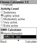 Fitness Calculator 2 screenshot 2/2