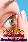 Precaution while using Contact Lenses screenshot 1/3