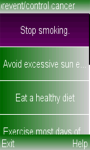 Tips to prevent cancer screenshot 1/3