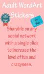 Adult WordArt Stickers  screenshot 4/4