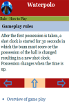 Rules to play Waterpolo screenshot 3/3