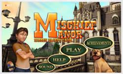 Free Hidden Objects Game - Mischief Manor screenshot 1/4