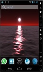 Red Moon Over Sea Live Wallpaper screenshot 1/2