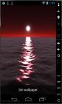 Red Moon Over Sea Live Wallpaper screenshot 2/2