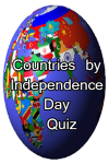 Countries by Independence Day Quiz screenshot 1/3