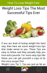 How to Lose Weight Fast Articel screenshot 5/5