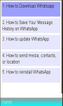 WhatsApp Installation/ Basics screenshot 1/1