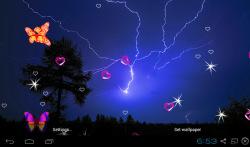 3D Lightning Storm Live Wallpapers screenshot 1/5