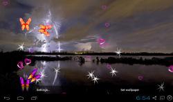 3D Lightning Storm Live Wallpapers screenshot 3/5