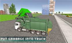 Flying Garbage Truck Simulator screenshot 2/4