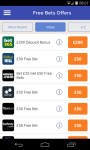 Free Bets UK Bookmaker Betting Offers and Tips screenshot 2/5