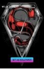 Superman-Clock Live Wallpaper screenshot 2/4