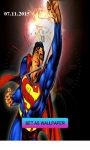 Superman-Clock Live Wallpaper screenshot 3/4