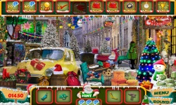Free Hidden Object Game - Christmas Town screenshot 3/4