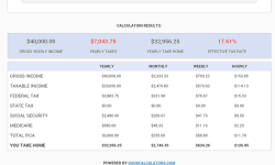 United States Salary Tax Calculator screenshot 2/2