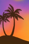 Sunset with Palm Tree Live Wallpaper screenshot 1/2
