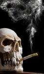 Smoking Skull Live Wallpape screenshot 1/3