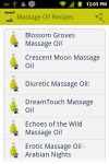 Massage Oil Recipes screenshot 1/3