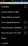 Auto Answer Call screenshot 1/5
