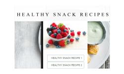 healthy snack recipes screenshot 1/3
