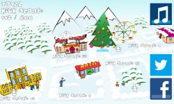 SnowBall Fight Winter Game HD screenshot 1/4