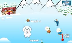 SnowBall Fight Winter Game HD screenshot 2/4